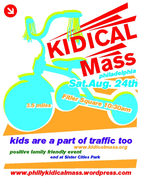 Kidical Mass August 24th Flyer